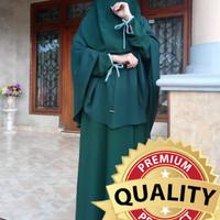 Setelan Gamis Khimar Cadar Tali Simple Baju muslimah Dress Syari G3