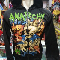jaket black anarchy / jaket pria ndx aka