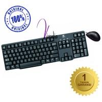 Logitech Keyboard K100 PS2 + Mouse B100 USB (Paket) Original