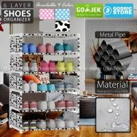 Rak Sepatu SIMPLY MODERN DIY 6 Layer 5 Susun Lemari 98 x 60 x 30 CM
