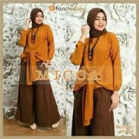 pakaian muslim murah baju muslim murah Hijab Set 3in1 MICCA Bata
