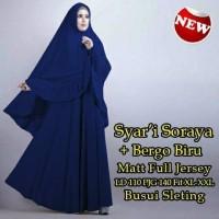 Pakaian muslim wanita murah baju muslim wanita Syari Bergo Biru Sora