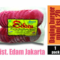 Jual Daging Burger Mini Edam isi 20 Murah