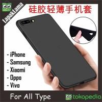 Case Slim Black Matte All Type Xiaomi Oppo Vivo iPhone Diskon