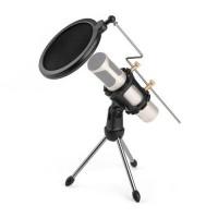 Mini Tripod Stand Mic / Microphone / Mikrofon dengan Pop Filter