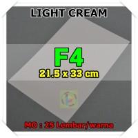 Kertas Karton Jasmine Uk. F4 LIGHT CREAM KREM 180