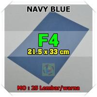 Kertas Karton Jasmine Uk. F4 NAVY BLUE BIRU NAFI