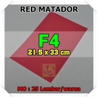 Kertas Karton Jasmine Uk. F4 RED MATADOR MARUN MAROON