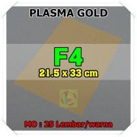 Kertas Karton Jasmine Uk. F4 PLASMA GOLD EMAS
