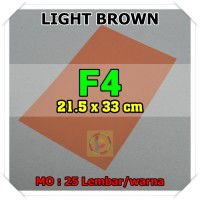 Kertas Karton Jasmine Uk. F4 LIGHT BROWN COKELAT MUDA