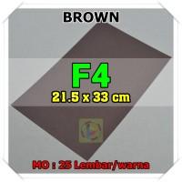 Kertas Karton Jasmine Uk. F4 BROWN COKLAT TUA