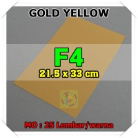 Kertas Karton Jasmine Uk. F4 GOLD YELLOW KUNING EMAS