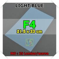Kertas Karton Jasmine Uk. F4 LIGHT BLUE BIRU MUDA