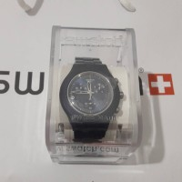Jam Swatch Irony Chronograph Full Blooded Smoky Blue Watch 43mm