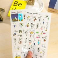 Stiker kecil korea buku catatan harian gambar kartun KSY101