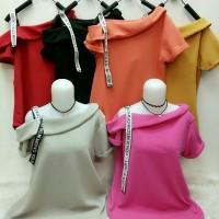 Kaos kekinian Blouse atasan wanita import termurah (DOOIE) bhn waffle