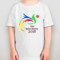 Kaos Anak Asian Games 2018 Old Logo Kid - Combed - Unisex - Unik