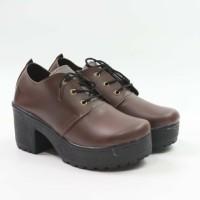 Lilyshoes -sepatu heeled Boots dockmart simple casual wanita tali