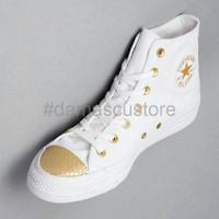 DISKON Converse Chuck Taylor All Star OX Hi Top White Gold White