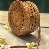 Jual Tas Rotan Wave motif/Bali/raisa/rattan/selempang/best seller/murah Murah