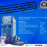 Mesin Las Inverter MIG MAG 300A - Kobewel Xi 300