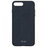 TUMI Coated Canvas Co-Mold Case for iPhone 7 Plus - Blue Coated