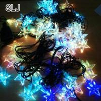 lampu natal Lampu natal LED bintang warna warni / lampu hias / lampu