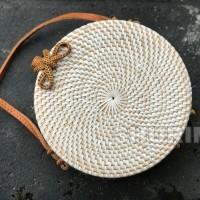 Jual Bohemian Bag White 20cm/Tas rotan/rattan Bali/selempang/best seller Murah