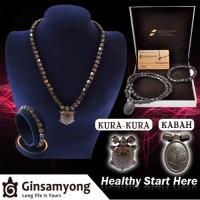 Kalung Kesehatan Tubuh Ginsamyong Coklat Bonus Gelang Kesehatan & Giok