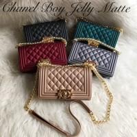 Tas Wanita Chanel Boy Maxi Jelly Matte impor 25cm
