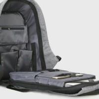 Tas Ransel USB port charger,Smart Backpack Anti Air Anti Maling-thief