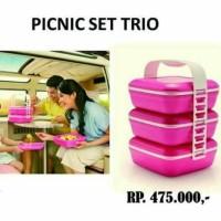 (Kotak Makan & Rantang) Picnic Set Trio Pink (1) Tupperware