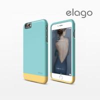 Glide Cam Case for 6S Plus - SF Coral Blue SG Creamy Yellow