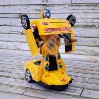Bumblebee Robot Car 8986 - Mainan Mobil Transformer 2 in 1 Bump & Go