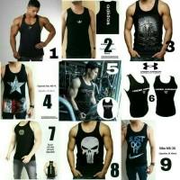Jual Singlet Baju Kaos Fitness gym Fitnes Underarmour under armour punisher Murah