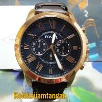 JAM TANGAN PRIA FOSSIL FS5068 ROSE GOLD BROWN ORIGINAL GARANSI RESMI