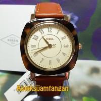 JAM TANGAN WANITA FOSSIL ES4281 ROSE GOLD BROWN ORIGINAL MURAH