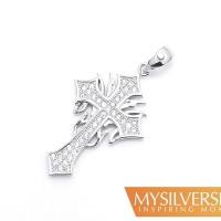 Harga new liontin salib silver 925 berlapis emas putih | Pembandingharga.com