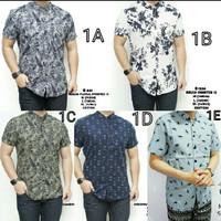 Jual Baju Kemeja Pria Songket Batik Hitam Keren Gaya Trendy Murah