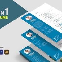 Harga paket template cv dan surat lamaran kerja desain kreatif via | antitipu.com