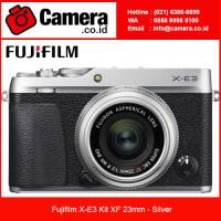 Fujifilm X-E3 Kit XF 23mm Kamera Mirrorless - Silver / Fujifilm XE3