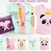 "Kazel T-Shirt Panda Edition ""Girl"" 1 box isi 6pcs"