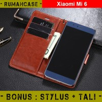 Xiaomi MI 6 - Flip Cover Wallet Case Casing Dompet hp kulit mi6 hard