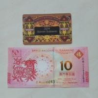Uang Kuno Macau 10 Patacas th 2015 shio kambing