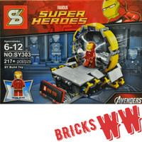 IRONMAN LAB Gantry Tony Stark Avengers Super Heroes Lego Superhero