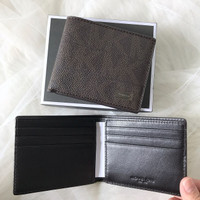 8f633bdc77b Michael Kors Slim Bifold Wallet Signature Brown. Dompet MK Original
