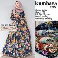 Murah Kumbata Maxi Dress Gamis Muslim Jersey Super Umbrella XXL