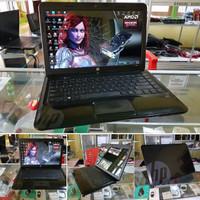laptop seken HP 1000 Gamer n desain,spek tinggi amd a4 speed boster 2,