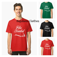 Atasan/Kaos/T-Shirt/Marry Cristmas Santa Claus Felize Navidad