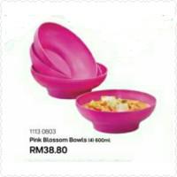 Tupperware Pink Blossom Bowls / Mangkok (4)